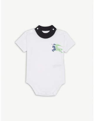 Burberry Logo cotton bodysuit 1-18 months