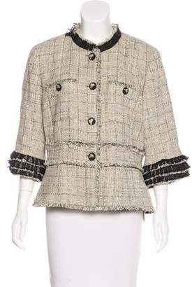 Chanel Ruffled Tweed Jacket