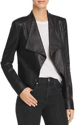 Theory Draped Leather Jacket