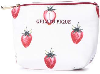 Gelato Pique (ジェラート ピケ) - ジェラートピケ gelato pique サテンイチゴ柄ティッシュポーチ
