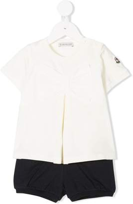 Moncler bow top & shorts set