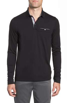 Ted Baker Loomie Slim Fit Tipped Long Sleeve Polo