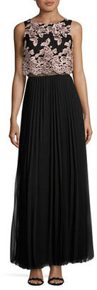 Betsy & Adam Pleated Long Skirt $249 thestylecure.com