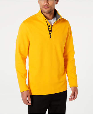 DKNY Men Logo Quarter-Zip Sweater