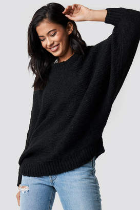 Trendyol Bat Sleeve Knitted Sweater Black