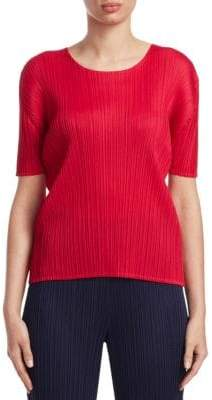 Pleats Please Issey Miyake Monthly Colors July Textured Top