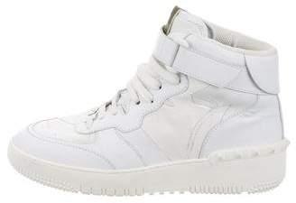 Valentino Rockstud Camo High-Top Sneakers