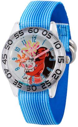 EWatchFactory Disney Moana and Pua Girls' Clear Plastic Time Teacher Watch