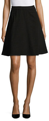 Lord & Taylor Gingham Ponte A-Line Skirt $94 thestylecure.com