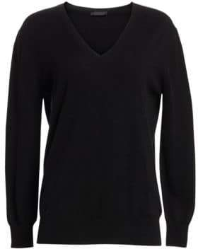 The Row Essentials Sabry Cashmere V-Neck Sweater