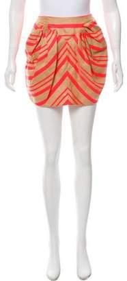 DELPOZO Linen-Blend Mini Skirt