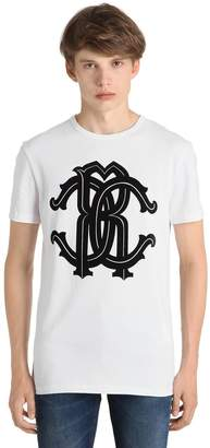 Roberto Cavalli Logo Printed Cotton Jersey T-Shirt
