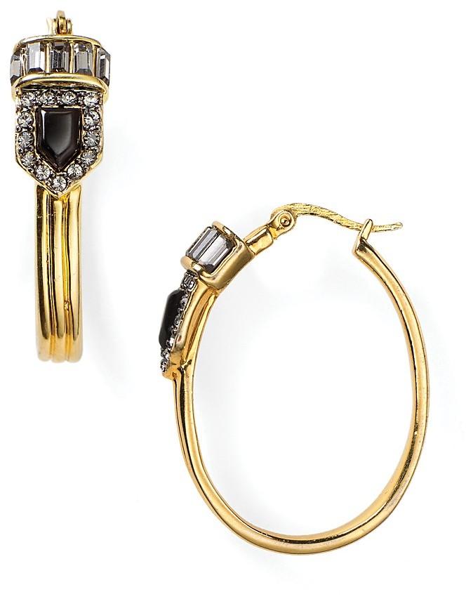 Rachel Zoe Oval Hoop Earrings