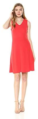 Armani Exchange A X Women's V Neck Fit and Flare Dress