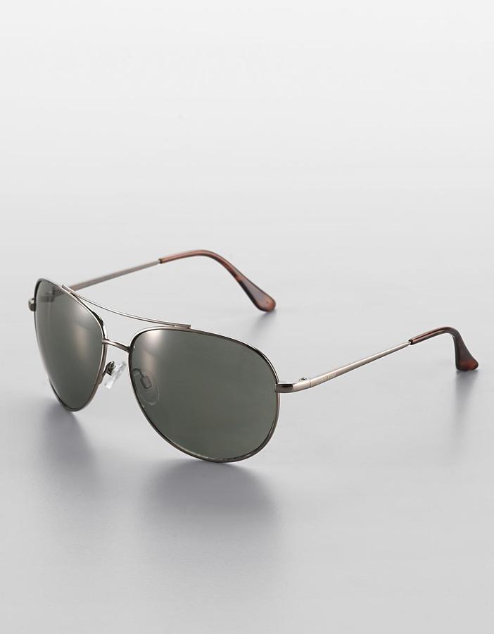 CALVIN KLEIN Metal Aviator Sunglasses