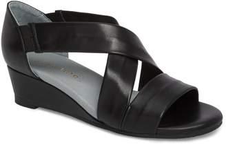 David Tate Swell Cross Strap Wedge Sandal