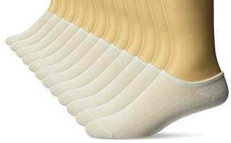 FOUR LOGS Men's Ankle Socks Athletic Performance Thin Low Cut Sports 12 Pack, White