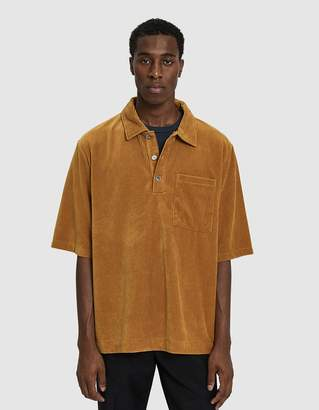 Our Legacy Borrowed Piquet Polo in Mustard Rib