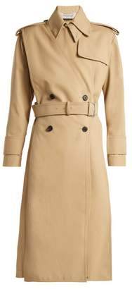 Valentino Gabardine Double Breasted Trench Coat - Womens - Beige