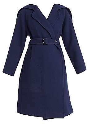 Chloé Women's Virgin Wool Belted Wrap Coat