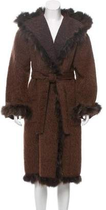Giuliana Teso Fox Fur-Trimmed Alpaca-Blend Coat