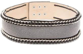 Balmain Chain And Crystal Embellished Waist Belt - Womens - Black