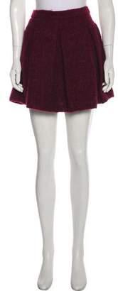Karl Lagerfeld Wool Mini Skirt