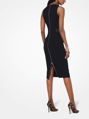 Michael Kors Stretch Boucle-Crepe Belted Sheath Dress