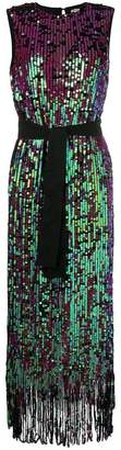 Manoush tie waist sequin dress