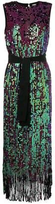 Manoush tie waist sequin dress