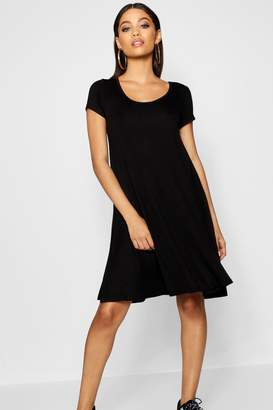 boohoo Keyhole Back Jersey Swing Dress