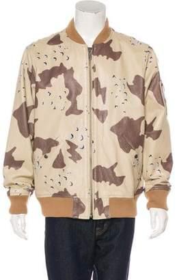 Supreme 2017 Leather MA-1 Desert Camo Bomber Jacket w/ Tags