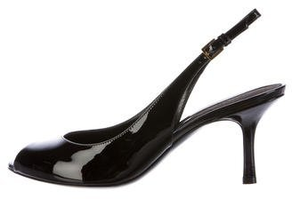 Tom Ford Patent Leather Peep-Toe Pumps w/ Tags