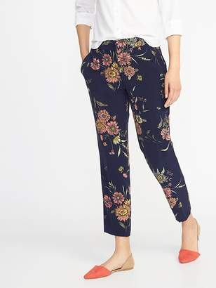 Old Navy Mid-Rise Floral Harper Ankle Pants for Women