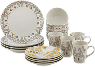 Rachael Ray Ikat 16-Pc. Dinnerware Set, Service for 4