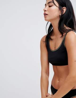 Weekday sports bra with contrast trim in black
