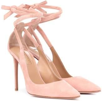 e542406a3c94 Aquazzura Pink Suede Pumps - ShopStyle