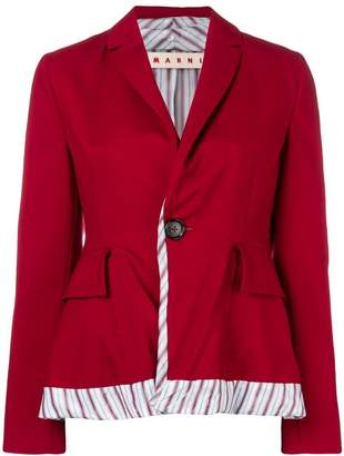 Marni one button blazer