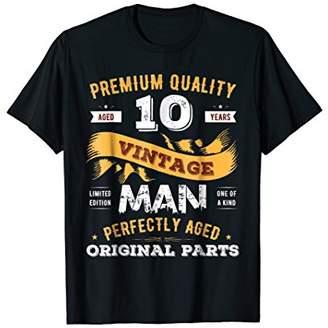 Vintage Perfectly Aged Original Parts 10 10th Birthday Shirt
