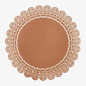 ABC Home Lace Doily Coaster Rose Gold