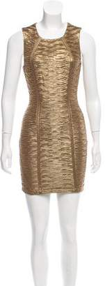 Torn By Ronny Kobo Ruched Metallic Dress