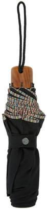 Paul Smith Black Multi Stripe Telescopic Umbrella