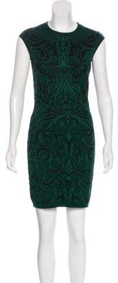 Alexander McQueen Wool-Blend Patterned Dress