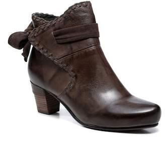 Vicenzo Leather Sahara Block Heel Leather Bootie