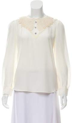 Marc Jacobs Silk Lace Blouse w/ Tags