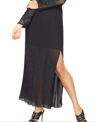 Miss Selfridge Applique Pleated Maxi Dress