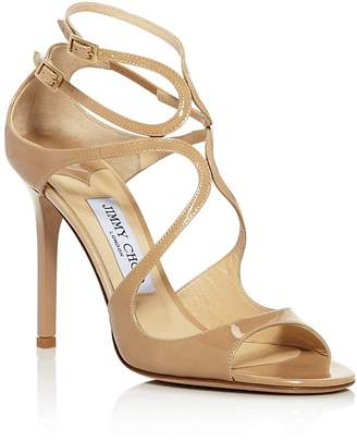 Jimmy Choo Women's Lang 100 Patent Leather High Heel Sandals