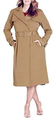 City Chic Classic Trench Coat