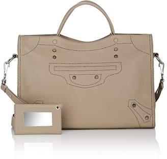 Balenciaga Women's Blackout City Leather Bag