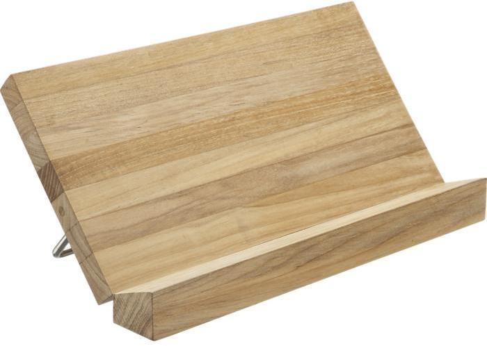 Crate & Barrel FSC Teak Cookbook Stand